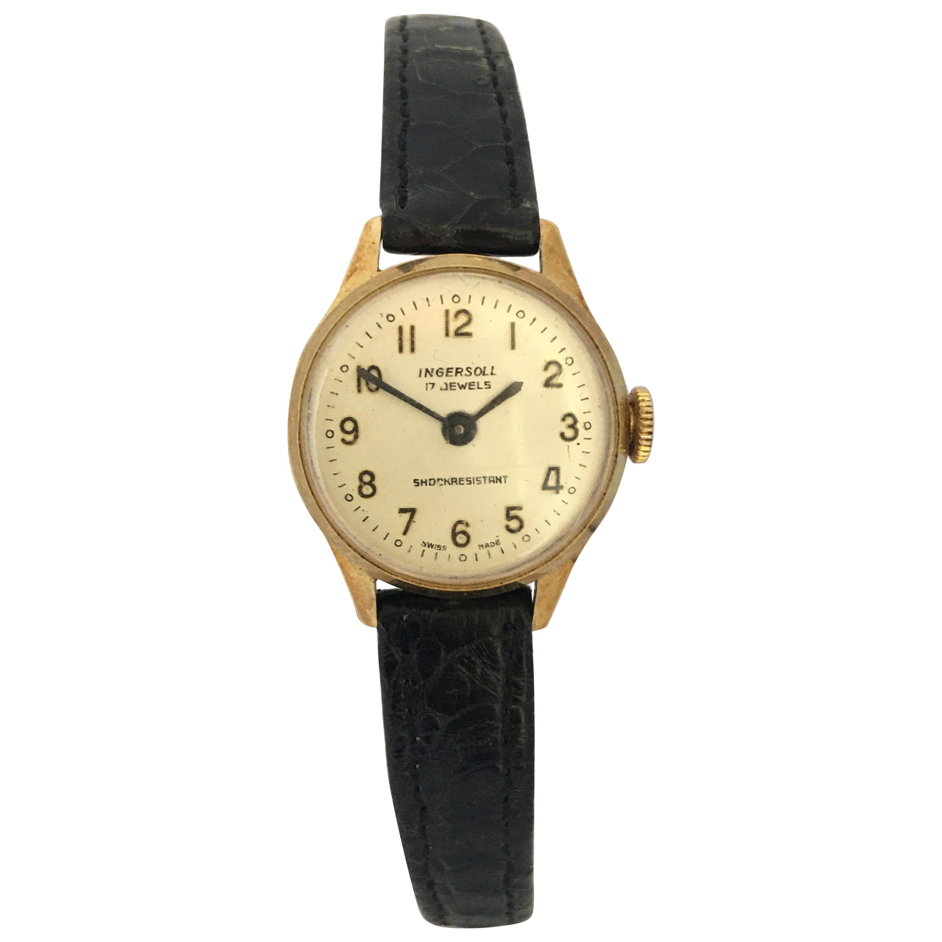 Ladies Vintage Gold-Plated Ingersoll Mechanical Watch