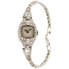 Ladies Vintage Platinum and Diamonds Waltham Watch