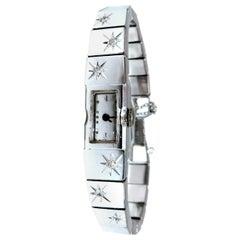Ladies Vintage Restored Diamond Watch 14 Karat, .20 Carat Natural Diamonds