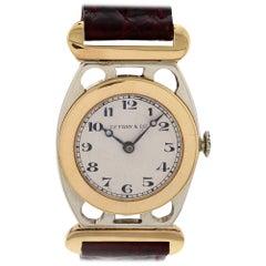 Ladies Vintage Tiffany & Co. 18 Karat White and Yellow Gold Watch