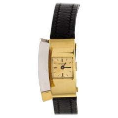Ladies Vintage Tiffany & Co 18 Karat White and Yellow Gold Watch