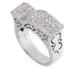 Ladies White Gold Diamond Cocktail Ring
