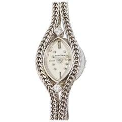 Ladies Wristwatch by Blancpain, 18 Karat White Gold with Diamonds