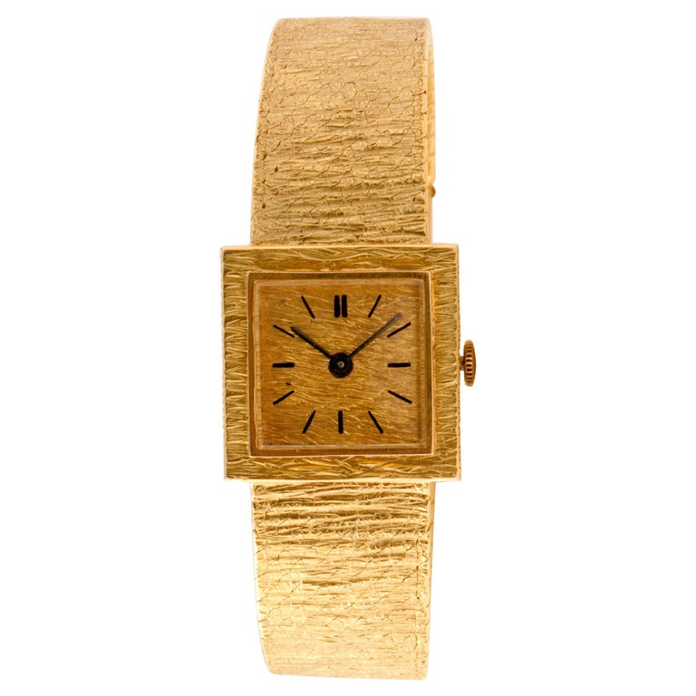 Ladies Wristwatch Yellow Gold 18 Carat, Mechanical Movement For Sale