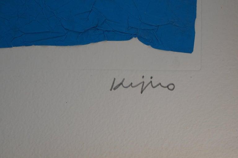 Elapsed Time in Blue - Original Mix Media - Handsigned - Print by Ladislas Kijno