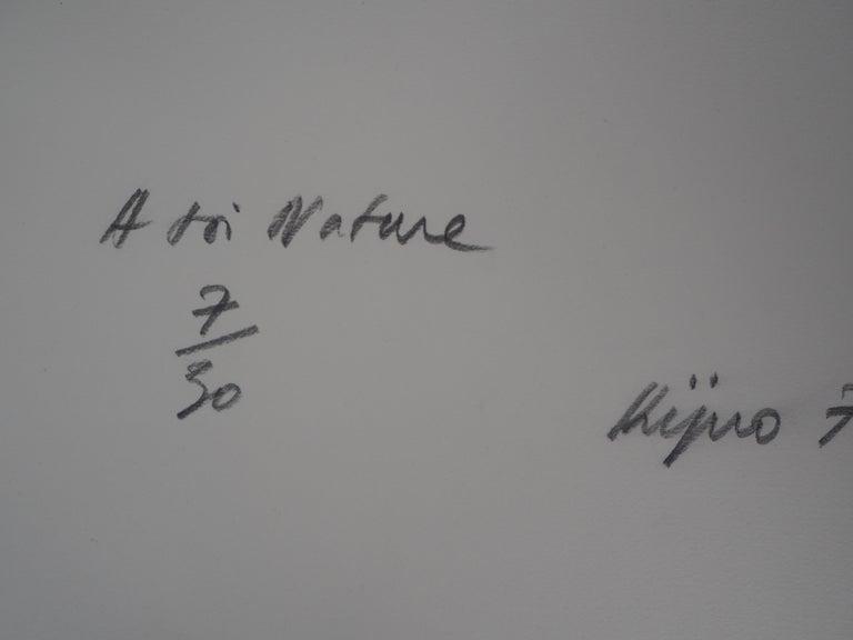 Ladislas Kijno Tribute to Nature  Original etching on vellum Handsigned in pencil Numbered / 30 On vellum 56 x 38 cm (c. 22 x 15 inch)  Excellent condition