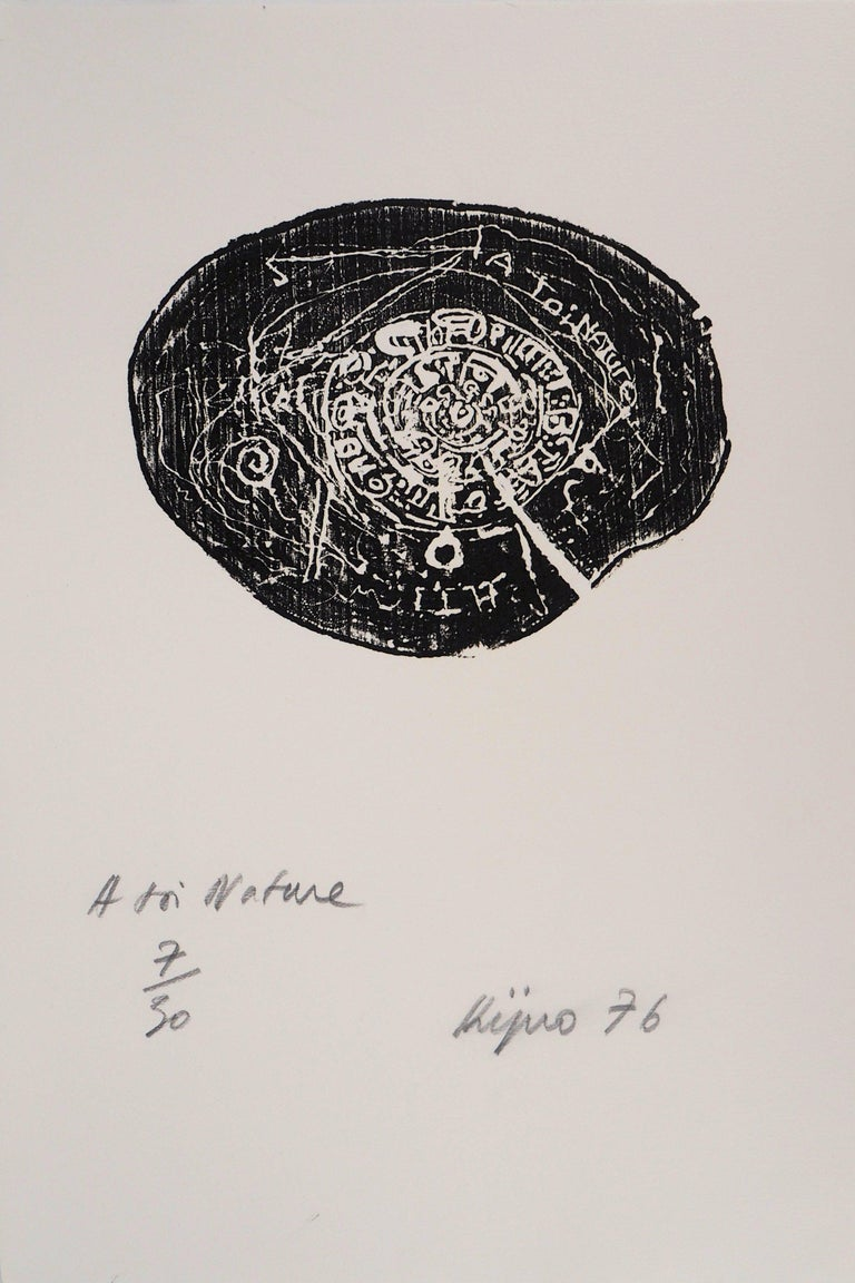 Ladislas Kijno Abstract Print - Tribute to Nature - Original etching - Handsigned - Limited to 30