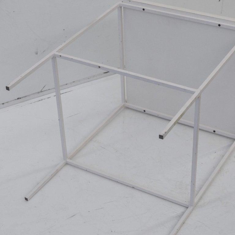 Ladislav Rado White enameled Steel Modern Side Table, 1955, Knoll and Drake For Sale 1