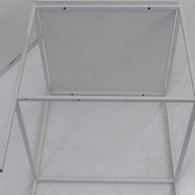 Ladislav Rado White enameled Steel Modern Side Table, 1955, Knoll and Drake For Sale 2