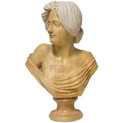Lady Bust. Marble. After Art Nouveau Models