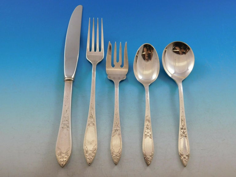 Silver Surf by Stieff Sterling Silver Salad Fork 6 12