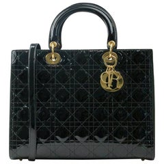 Lady Dior in patent leather