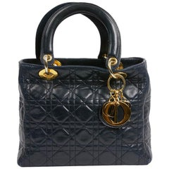 Lady DIOR Navy Blue Bag