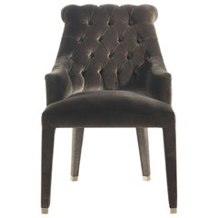 Lady E Armchair in Fabric and Leather by Roberto Cavalli