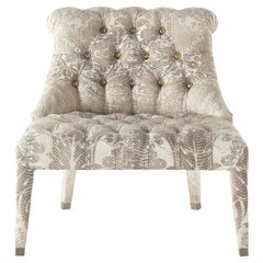 Lady E Armchair in Printed Canvas by Roberto Cavalli