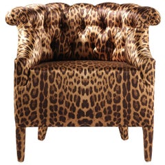Lady E Armchair in Printed Silk by Roberto Cavalli Home Interiors