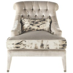 Lady E Armchair in Velvet by Roberto Cavalli