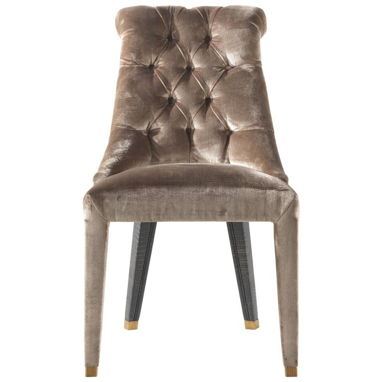 Lady E Chair in Fabric and Leather by Roberto Cavalli Home Interiors For Sale
