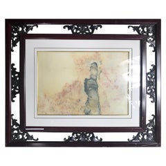 """Lady in Pink Extraordinary Natural Stone """"Painting"""" One-of-a-Kind"""