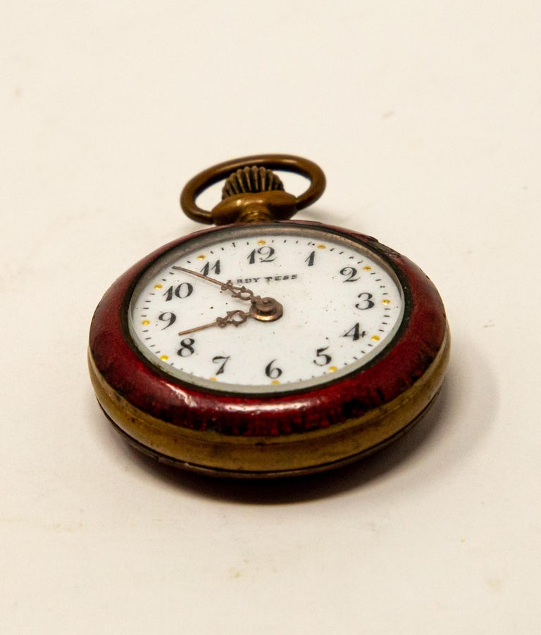 Lady Tess Ladies Pocket Watch In Fair Condition For Sale In Cookeville, TN