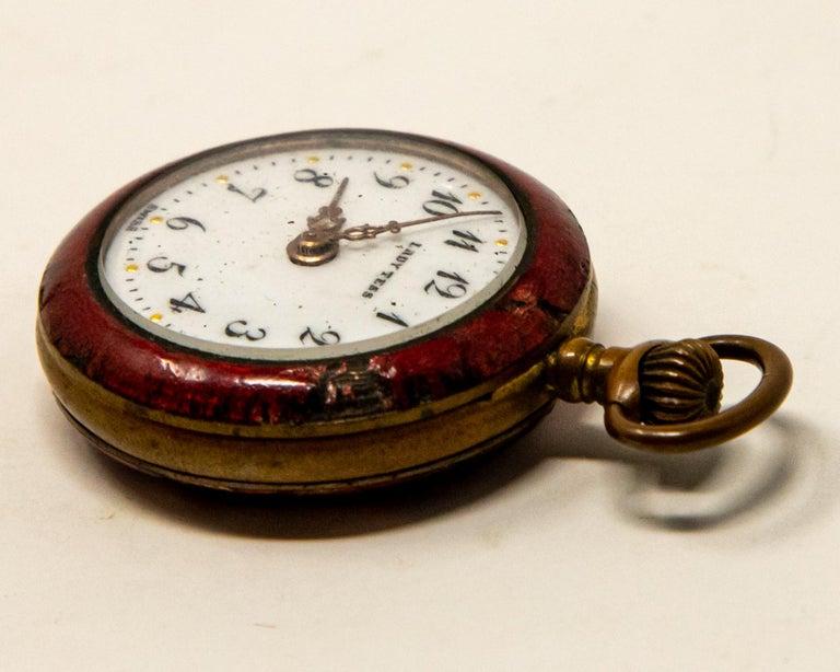 Brass Lady Tess Ladies Pocket Watch For Sale