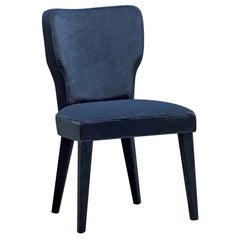 Lady V Blue Chair by Ciarmoli Queda Studio