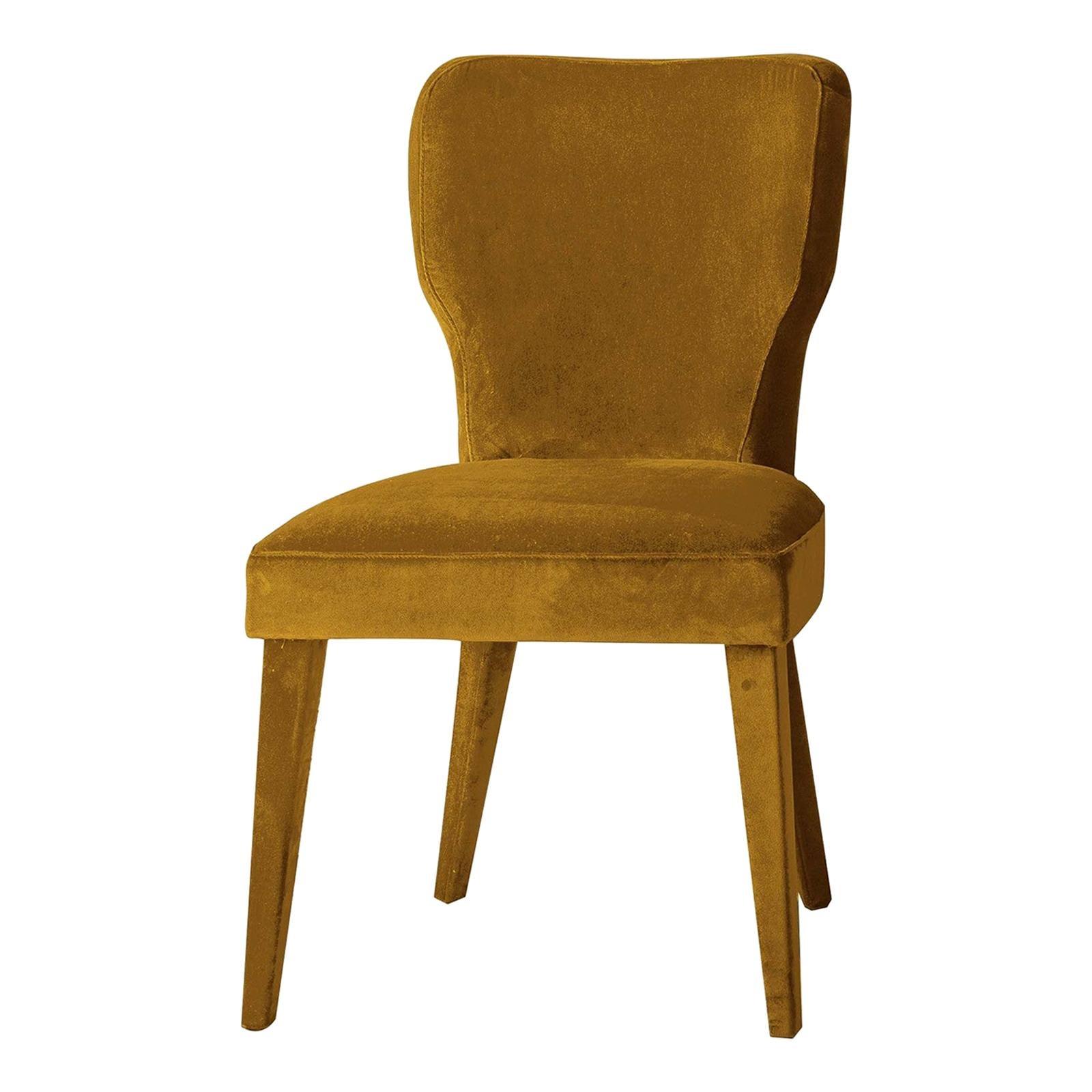 Lady V Yellow Chair by Ciarmoli Queda Studio