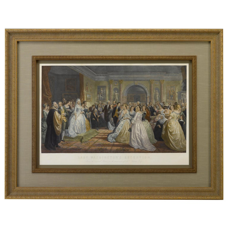 """""""Lady Washington's Reception"""" after D. Huntington, Engraved by A. H. Ritchie For Sale"""