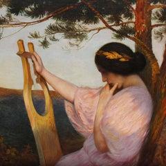 Hofrichter Art Nouveau Lady with Lyre