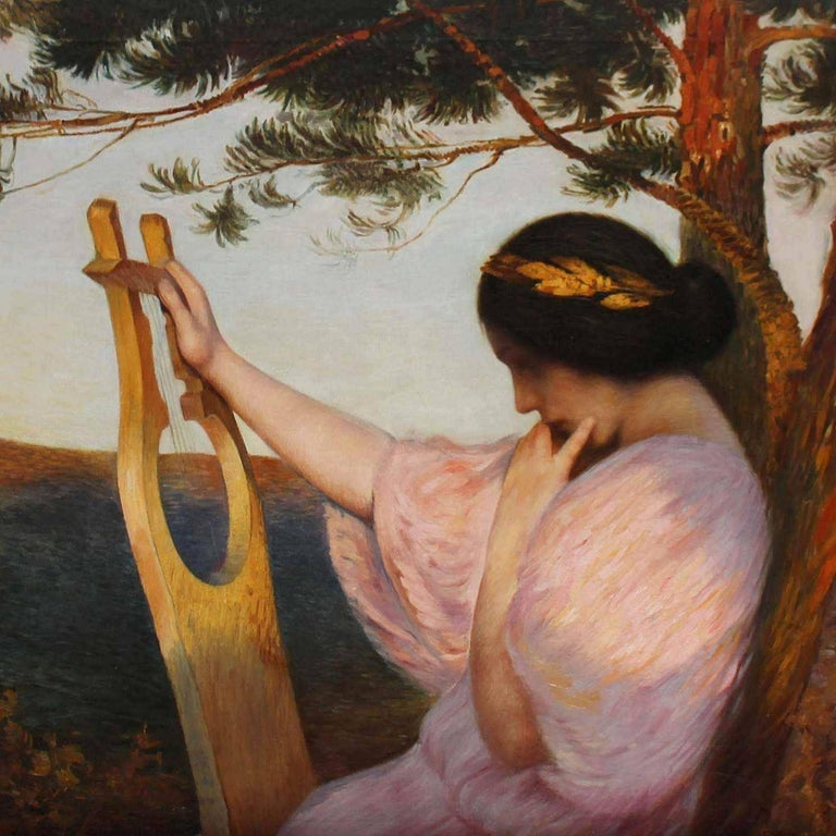 Hofrichter Art Nouveau Lady with Lyre