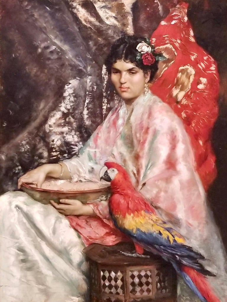 Julius LeBlanc Stewart, 1855-1919 ex. Sothebys, Waterhouse and Dodd signed J.L. Stewart and dated Paris, 1875, u.r.; also dedicated in the artist's hand 'à mon ami Fernande De L'Valle e Yznaga' Oil on canvas measuring 46 1/2 by 35 3/4 in.