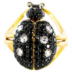 Ladybug Ring with Moving Parts Diamonds 2.52 Carat