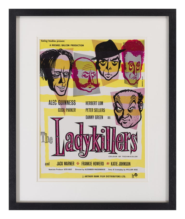 Original 1955 trade advertisement from Kinematograph weekly December 8th 1955. This was part of the advertising Campaign in the UK for the Classic Ealing comedy The Ladykillers starring Alec Guinness, Peter Sellers. This piece is conservation