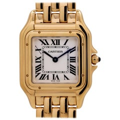 Ladies Cartier Panther 18 Karat Yellow Gold, circa 2017
