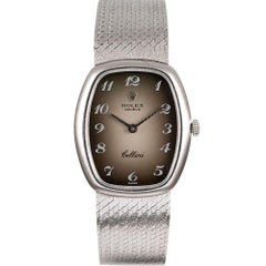 Lady's White Gold Rolex Cellini with Breguet Numeral Vignette Dial