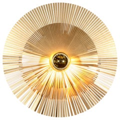 Lafaiette L Wall Lamp in Brass