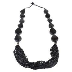 Lafayette 148 Black Beaded Necklace