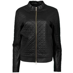 Lafayette 148 Quilted Leather Jacket Sz L NWT
