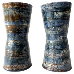 LaGardo Tackett Architectural Pottery Pair of Planter Vessels