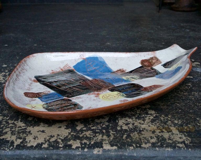 Mid-Century Modern LaGardo Tackett Studio Pottery Platter Pasadena California Design