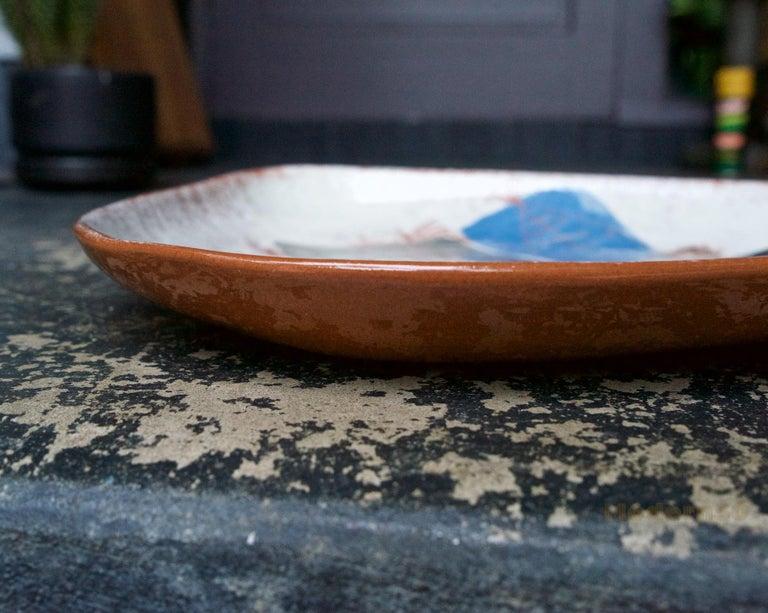American LaGardo Tackett Studio Pottery Platter Pasadena California Design
