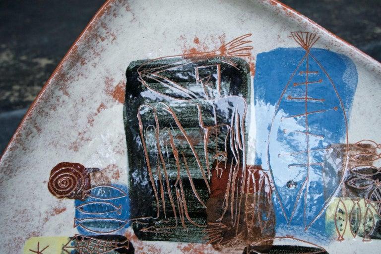 Hand-Crafted LaGardo Tackett Studio Pottery Platter Pasadena California Design