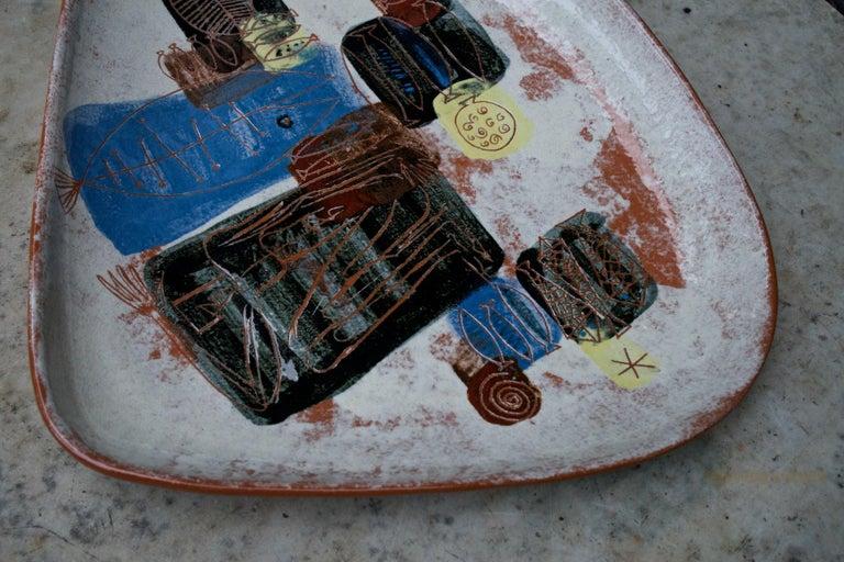LaGardo Tackett Studio Pottery Platter Pasadena California Design In Good Condition In Washington, DC