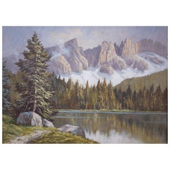 Painting italian - Lago Di Carezza E Latemar, 1920