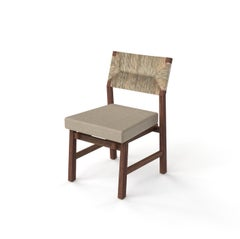 Lago Dining Chair with Natural Palm Fiber Back, Contemporary Mexican Design