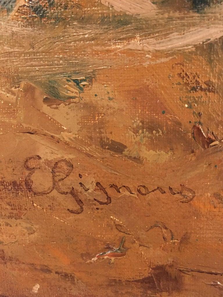 Italian 19th Century large Landscape Painting Lago Maggiore Isola dei Pescatori  For Sale 1