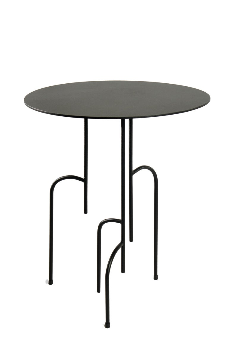 Contemporary Lagoas Accent Side Round Table For Sale