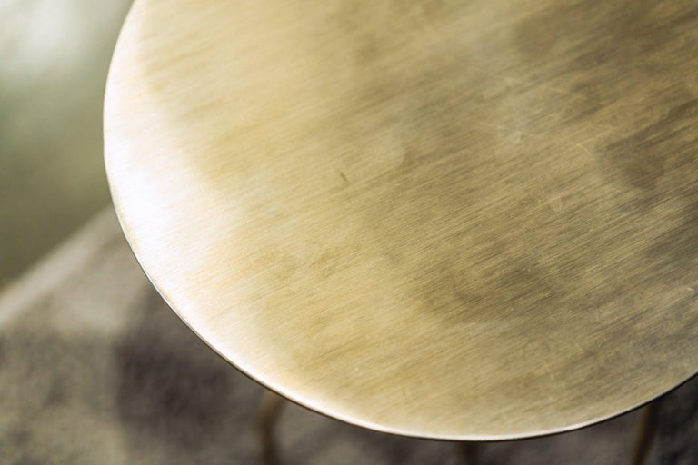 Steel Lagoas Accent Side Round Table