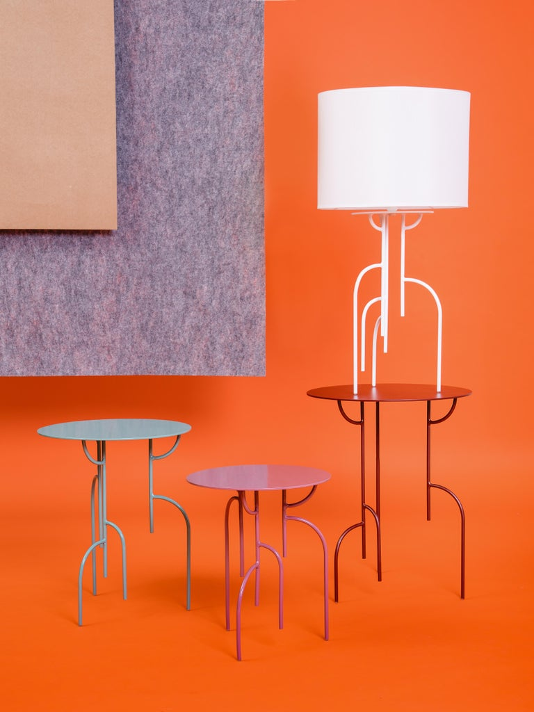 Brazilian Lagoas Accent Side Round Tables, 'Set of Three' by Filipe Ramos For Sale
