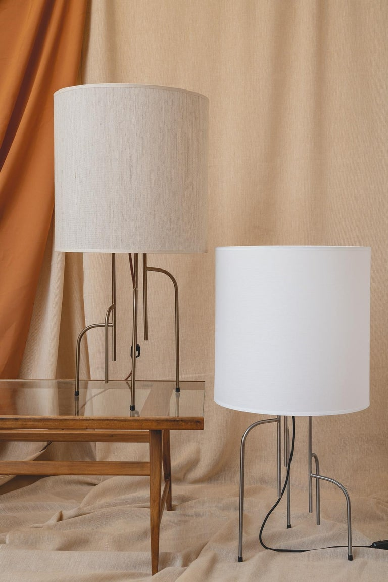 Lagoas Table Lamp, Oil-Rubbed Dark Gray by Filipe Ramos For Sale 2